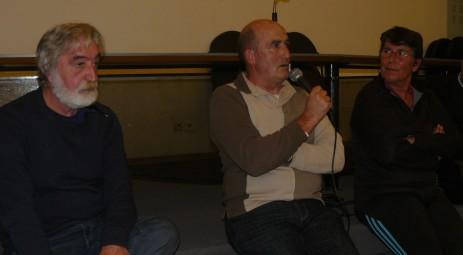 De g. à d., Roger Grangeaud (Collectif narbonnais de Lutte contre le Racisme), Didier Ribo (En Vie à Béziers) et Hélène Fargier (ABCR).