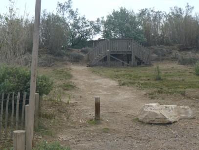 Aux Coussoules (La Franqui), l'accès a été fermé aux véhicules.