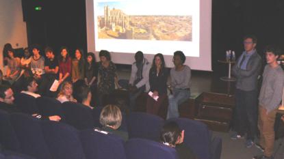 Les étudiants de Lyon et de Béziers ont présenté l'état de leurs travaux à ce stade.